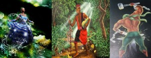 Yemanjá, Eleguá e Ogun